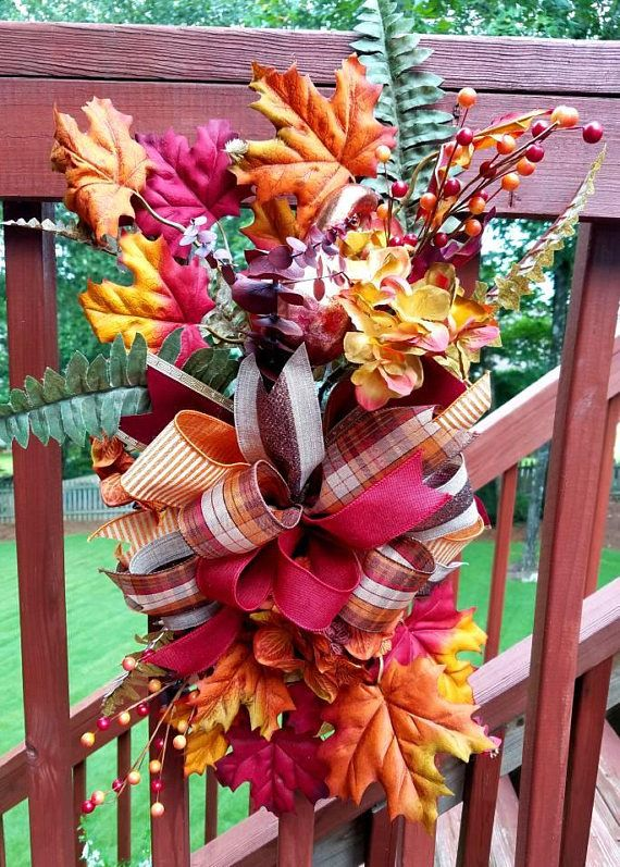 Check out this item in my Etsy shop https://www.etsy.com/listing/532702794/fall-door-swag-fall-front-door-wreath