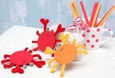 Krebse, DIY, Basteln mit Kindern, Kindergeburtstag, produziert für tambini.de