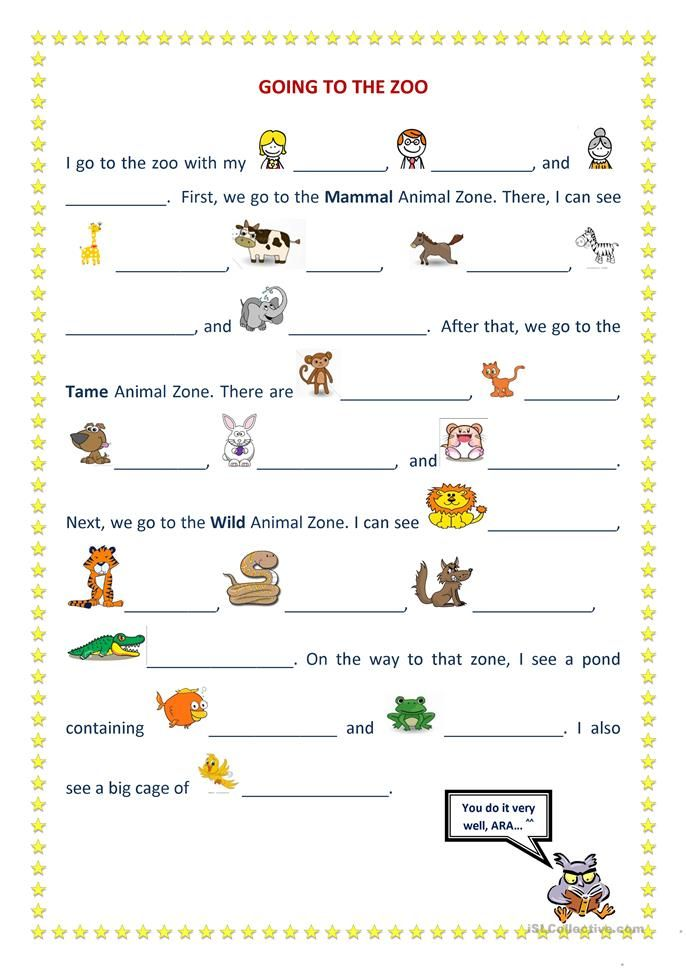 going to the zoo esl collective teaching english learn english english grammar worksheets. Black Bedroom Furniture Sets. Home Design Ideas