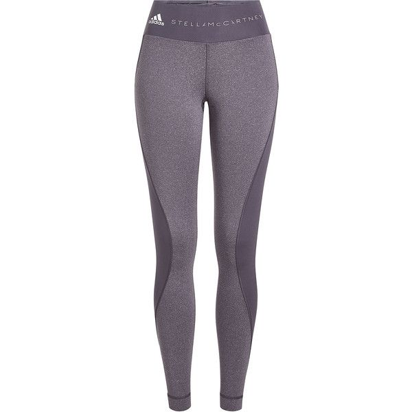 Adidas by Stella McCartney Yoga Ultimate Comfort Leggings ($120) ❤ liked on Polyvore featuring activewear, activewear pants, bottoms, grey, adidas, yoga activewear, adidas activewear, adidas sportswear and yoga sportswear