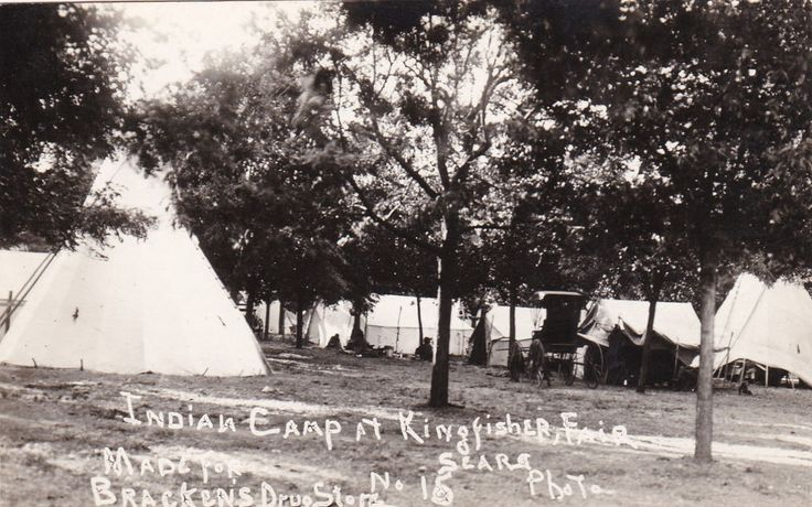 RP: KINGFISHER , Oklahoma, 1900-10s ; Indian Camp at fair