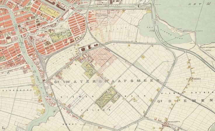 Watergraafsmeer 1902 op de kaart is de omvang van de for Funda amsterdam watergraafsmeer