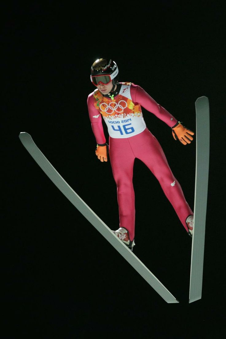 DAY 8:  Jan Ziobro of Poland competes during the Ski Jump Men's Large Hill Individual Qualification http://sports.yahoo.com/olympics