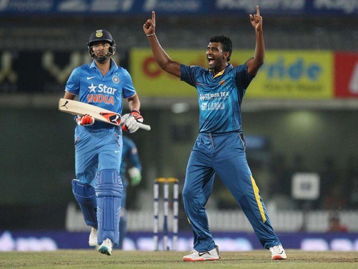 Thisara Perera hat-trick trumps Shikhar Dhawan's maiden half-century as India reach 196 for 6 against Sri Lanka in 2nd T20I at Ranchi