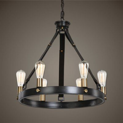 Uttermost 21273 Marlow 6 Light Antique Bronze Chandelier