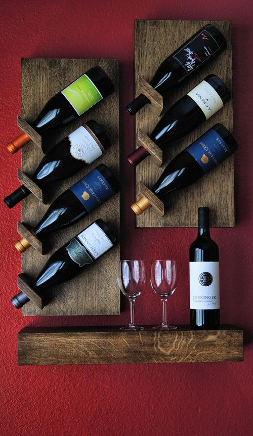 Custom floating wine rack pallet why not pinterest for Estantes para vinos