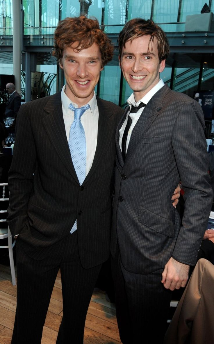 David Tennant and Benedict Cumberbatch together.  Who else just fell over?....and why is Ben holding him like that O.o