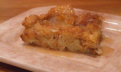 Irish Bread Pudding with Caramel Whiskey Sauce