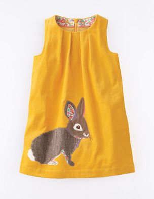 This is so beyond amazing.  My girls would like this, or something in this style.  Animal Appliqué Pinafore 33322 Day Dresses and Pinnies at Boden