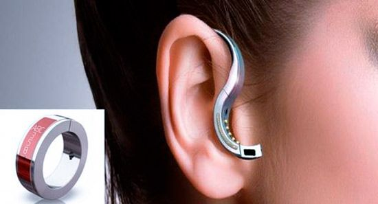 the Orb, a bluetooth headset that turns into a ring. Cool.