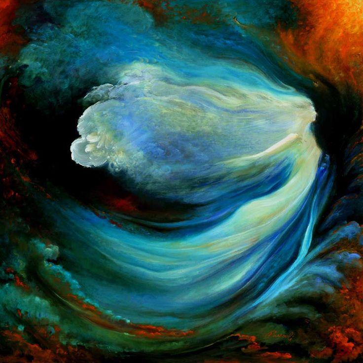 Free Flight by Freydoon Rassouli.  his work is powerful heart magic <3