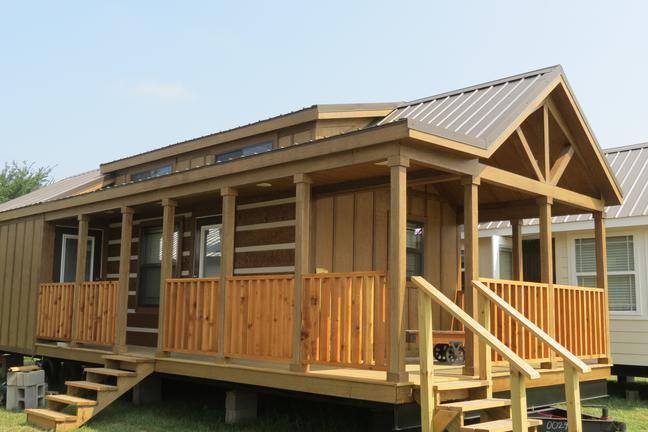 rv park models cottages cabins on display in rockwall