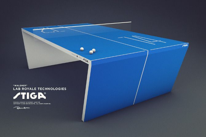 """Table Tennis 2.0 """"Waldner"""" – the next generation ping pong table, is made with an advanced computer system integration."""