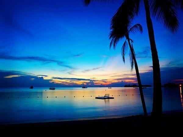 夕暮れのネグリル。ジャマイカ