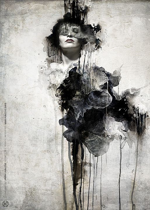 Love this dark mixed media #art by Jarek Kubicki @cruzinecom. #ALifeLessOrdinary