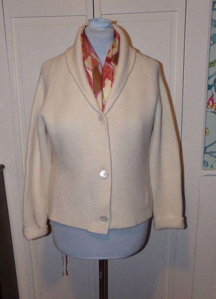 e831ba4042e FOLIO NEW YORK 100% Cashmere Cardigan Sweater Shawl Collar Sz XL   FolioNewYork  Cardigan