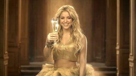 Shakira wearing Laura B mesh top in Freixenet Commerciaæ