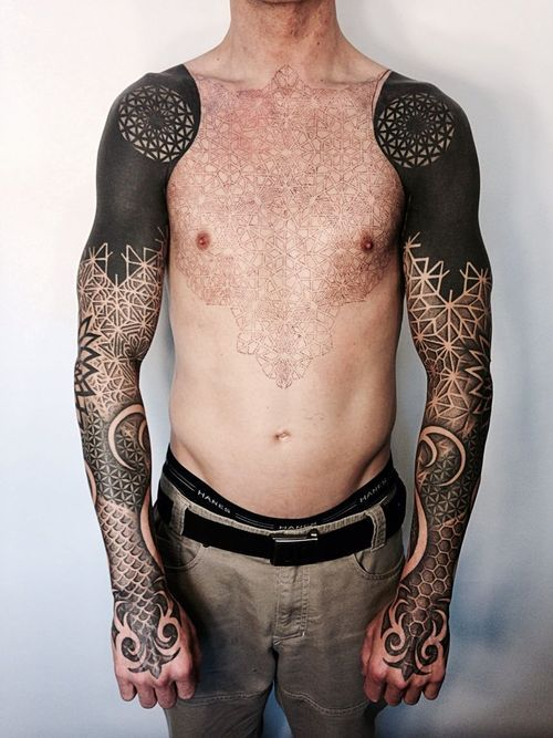 Amazing Blackwork Tattoo                                                       …