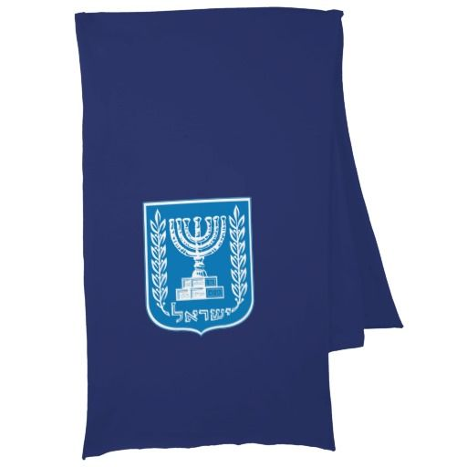 Israeli coat of arms scarf wraps