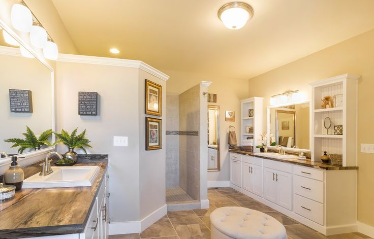 His And Her Sinks On Opposite Sides Of The Master Bathroom No More