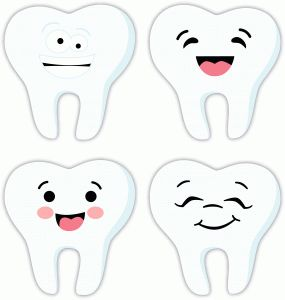 Silhouette Design Store - View Design #73870: 4 happy teeth