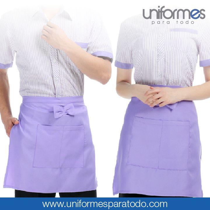 Diseñamos y creamos tus delantales como más te gusten. ¡Contáctanos para cotizar un uniforme hecho a tu medida! #UniformesParaTodo #Delantal #Restaurante #Personalizar #Estilo