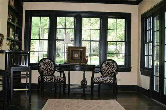 Pictures of house with interior black trim example of interior black trim if you are talking - Black house with white trim ...