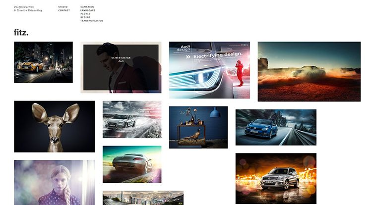 Fitz - This is the portfolio site of a post-production and retouching freelancer