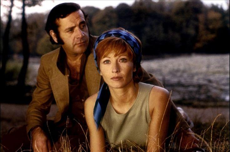 """Marlène Jobert avec Jean Yanne dans """"Nous ne vieillirons pas ensemble"""" de Maurice Pialat."""