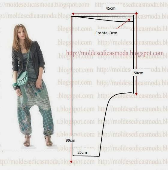 Fashion Templates for Measure: PANTS Saruel - 3
