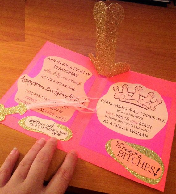 Pop Up Penis Bachelorette Card Handmade by EarlesFolly on Etsy