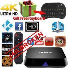 4K M8S Quad Core Android Smart TV BOX XBMC Kodi Media Player+freekeyboard | eBay