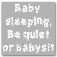 Baby Sleeping Grey 25cm x 25cm - www.tinklepea.co.za
