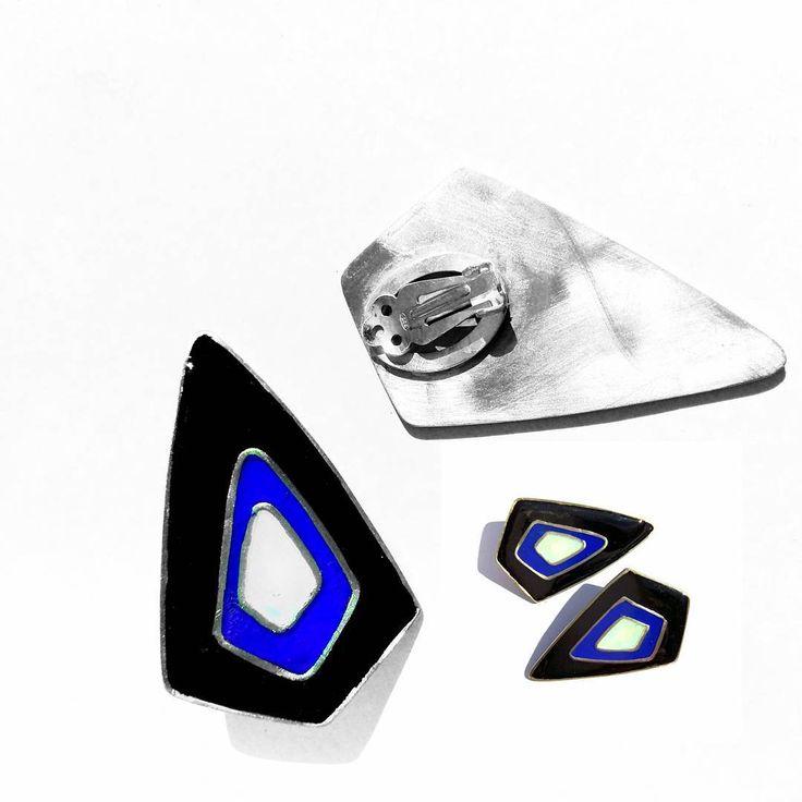 "#handmade #jewlery #jewlerydesign#handmadejewelry #earrings #geometric #geometricjewelry # silver…"""