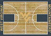 NCAA College Home Court West Virginia Novelty Rug