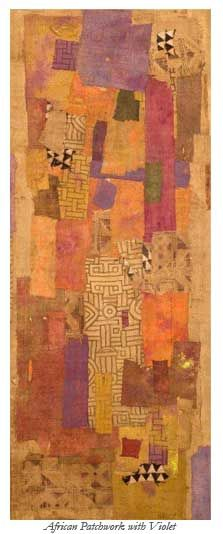 William Halsey... saturated paint rags and torn, antique African textiles  ...  blogs.cofc.edu