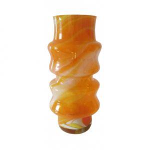Wysoki pomarańczowy wazon, Polanica Zdrój, lata '70 XX wieku
