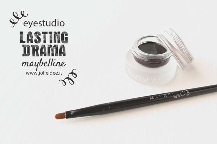 Review Eye Studio Lasting Drama Gel Eyeliner Maybelline #eyeliner #maybelline #gel #black #makeup #eyes