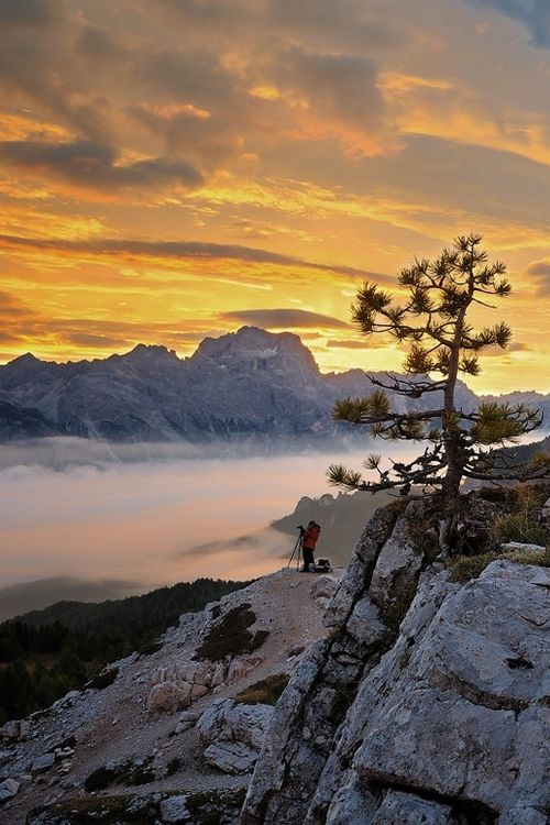 Sunrise at Cortina d'Ampezzo - Dolomitic Alps, Veneto, Italy  ( by Tomáš Morkes on 500px )