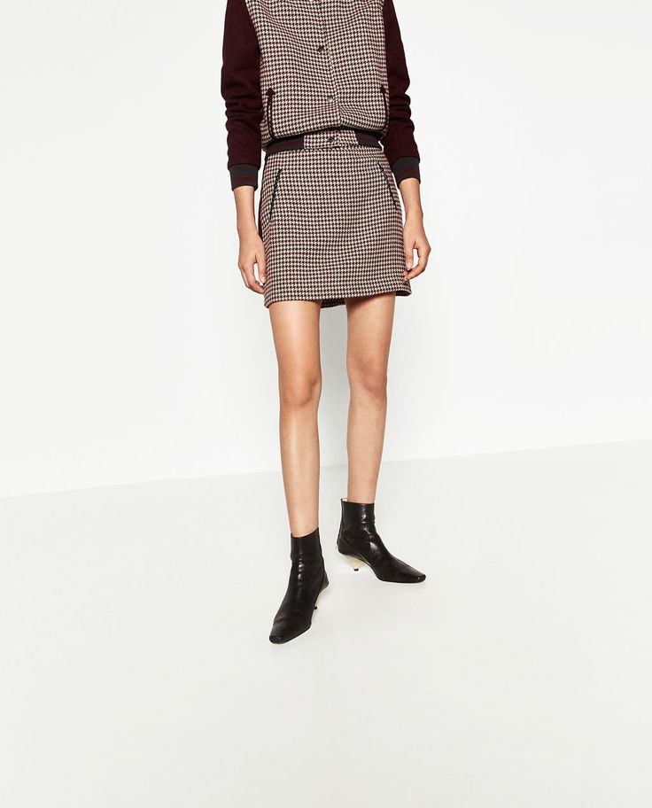 Image 2 of HOUNDSTOOTH CHECK SKIRT from Zara
