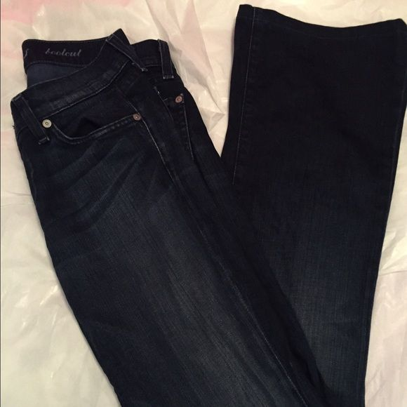 7 for all mankind bootcut dark wash jeans  Euc  inseam is approx 29 1/2 inches 7 for all Mankind Pants