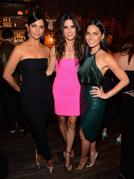 """Olivia Munn Photos - (L-R) Model Camila Alves with actresses Sandra Bullock and Olivia Munn attend Spike TV's """"Guys Choice 2014"""" at Sony Pictures Studios on June 7, 2014 in Culver City, California. - Spike TV's """"Guys Choice 2014"""" - Backstage And Audience"""