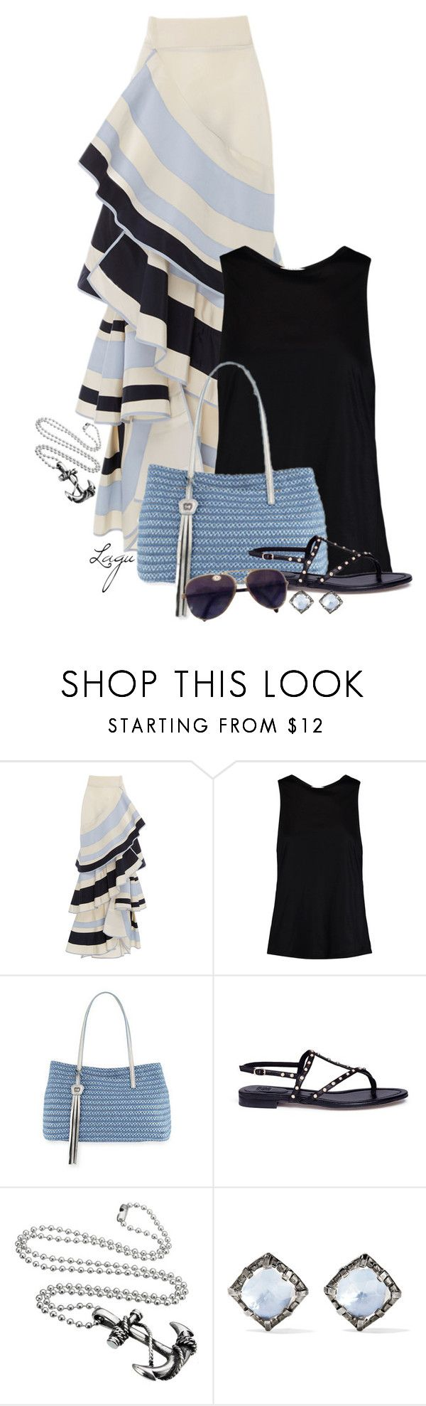 """""""By the Sea"""" by lagu on Polyvore featuring Johanna Ortiz, Halston Heritage, Eric Javits, Pedder Red, Larkspur & Hawk and Chanel"""