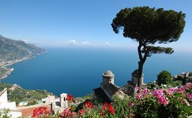 Probably one of the most photographed view in the Amalfi Coast - Ravello in the Amalfi Coast.