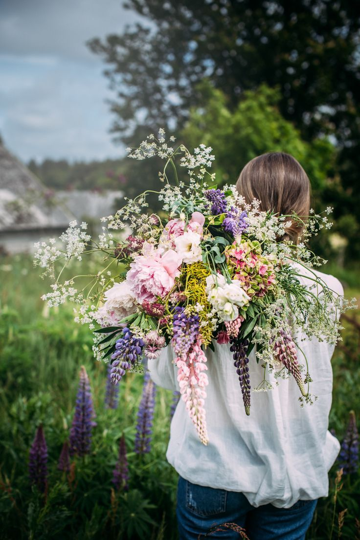 Every girl loves a bouquet of wild flowers.