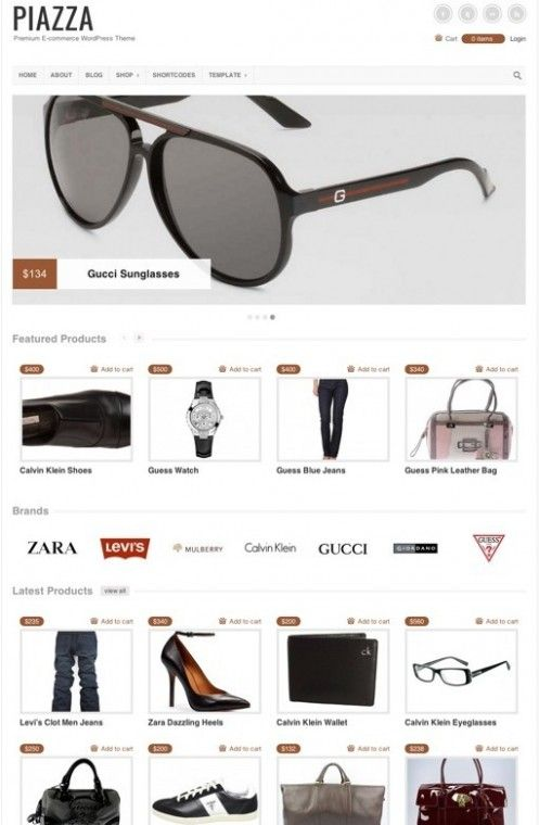 Piazza WordPress Theme from ColorLabs