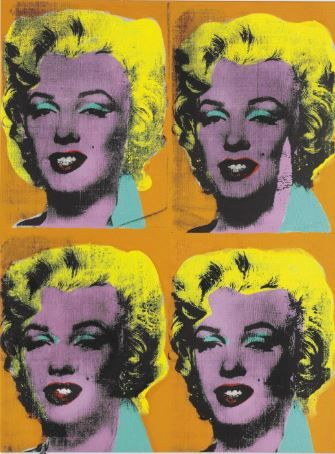 """Four Marilyns"" by Andy Warhol"