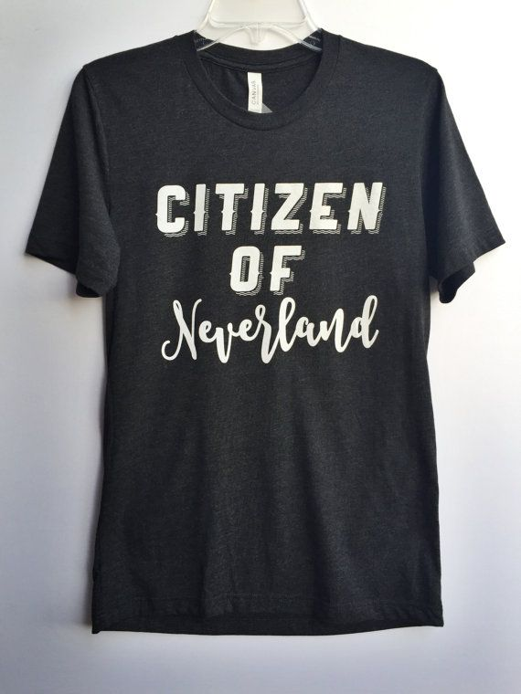 Citizen of Neverland Tee Peter Pan Shirt Disney by Waltswardrobe
