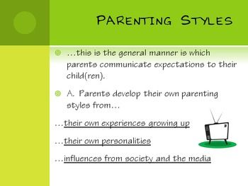 parenting styles essay introduction Your parenting style will affect your child's health, self-esteem, and overall well-being your parenting style can affect everything from how much your child weighs to how she feels about herself it's important to ensure your parenting style is supporting healthy growth and development because.