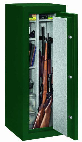 Stack-On FS-14-MG-C 14-Gun Fire Resistant Safe with Combination Lock, Matte Hunter Green Inside View